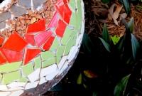 Mosaic garden vessel