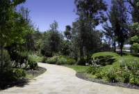 Curved sandstone path