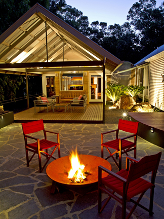 Firepit and Alfresco areas