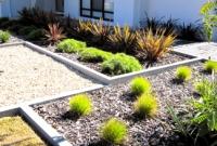 Geometric design for front garden
