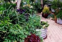 Raised corrugated vegetable planters